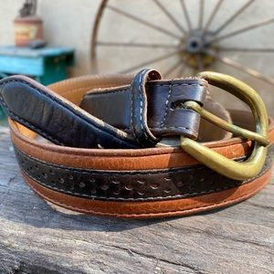 H S Trask Authentic American Bison Leather Belt